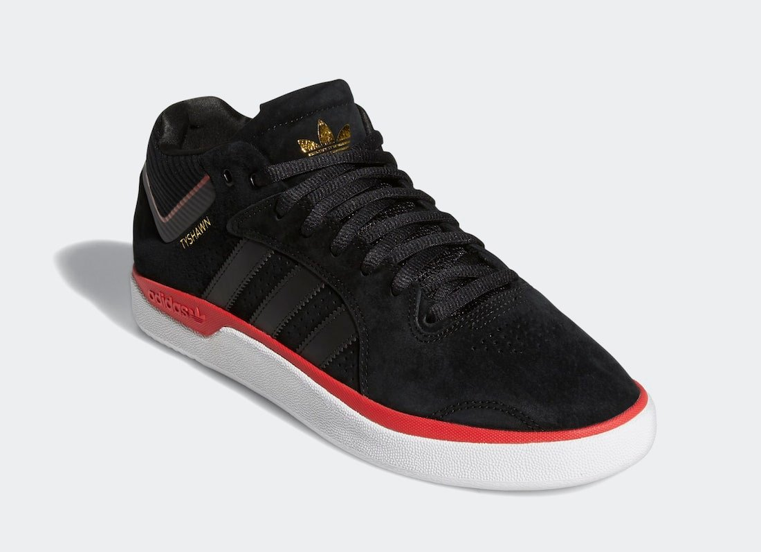adidas Tyshawn Black Scarlet Gold FV5860 Release Date Info