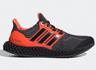 adidas Ultra 4D Core Black Solar Red G58159 Release Date Info