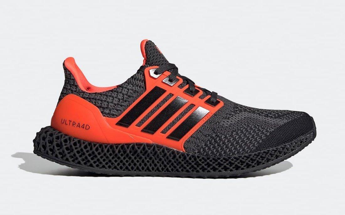 adidas Ultra 4D Core Black Solar Red G58159 Release Date Info
