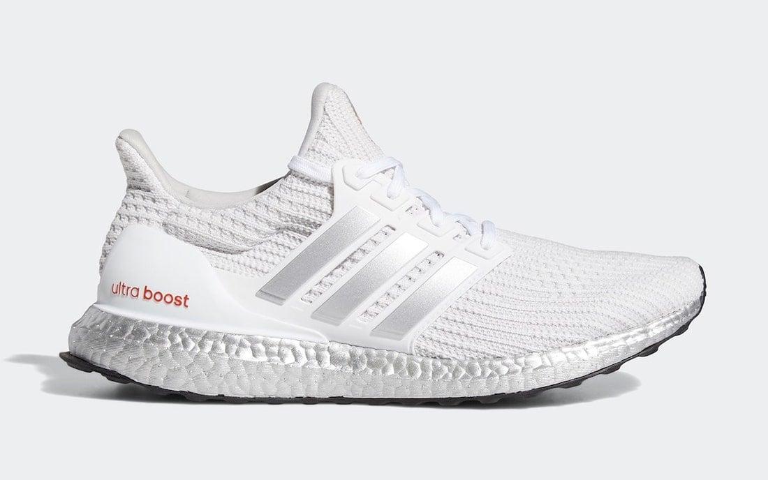 adidas Ultra Boost DNA White Metallic Silver G55461 Release Date Info