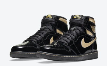 Air Jordan 1 Black Gold 555088-032 Release Price