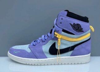 Air Jordan 1 High Switch Purple Pulse Glacier Blue Sail Black Release Date Info