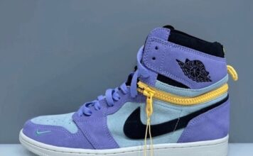 Air Jordan 1 High Switch Purple Pulse Glacier Blue Sail Black Release Date Info