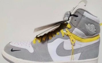 Air Jordan 1 High Switch White Light Smoke Grey Sail Tour Yellow Release Date Info