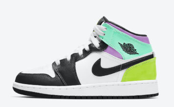 Air Jordan 1 Mid GS Purple Teal Green 554725-175 Release Date Info