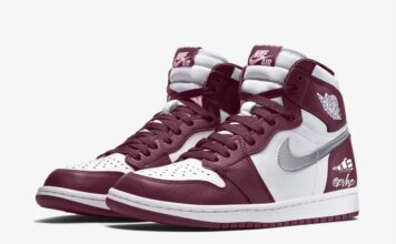 Air Jordan 1 White Bordeaux Metallic Silver 555088-611 Release Date Info