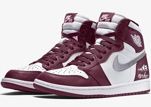 Air Jordan 1 White Bordeaux Metallic Silver Release Date
