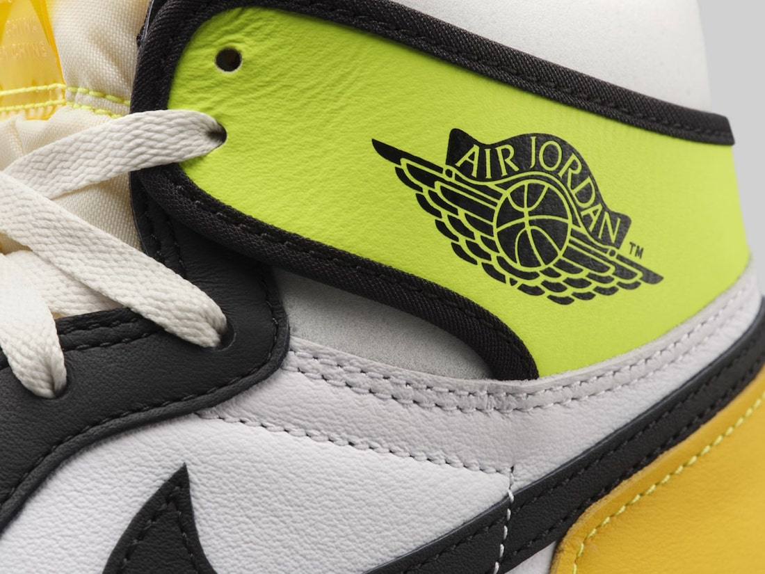 Air Jordan 1 White Volt University Gold 555088-118 Release Price