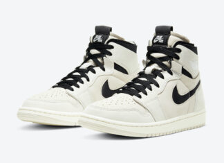 Air Jordan 1 Zoom Comfort Summit White Black Sail Light Orewood Brown CT0979-100 Release Date Info
