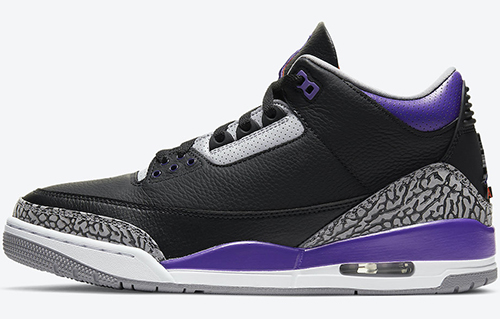 Air Jordan 3 Black Court Purple Release Date