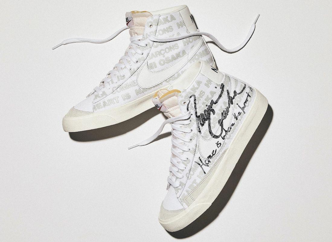 CDG Naomi Osaka Nike Blazer Mid DA5383-100 Release Date