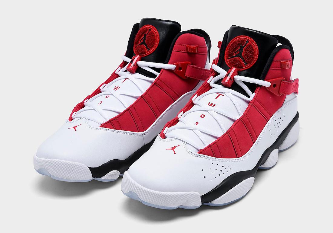 Jordan 6 Rings White Black Red 322992-106 Release Date Info