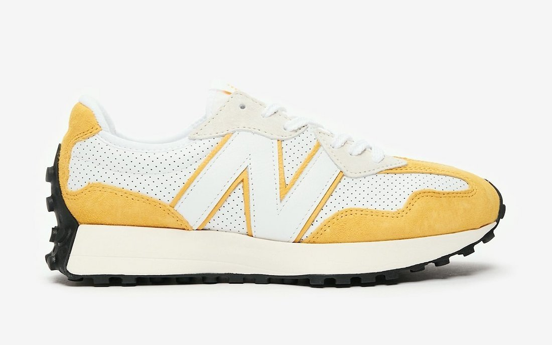 New Balance 327 Perforated Pack Yellow Release Date Info