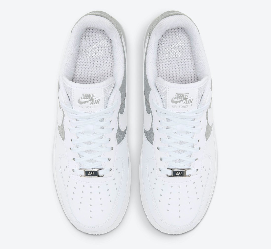 Nike Air Force 1 07 Low White Metallic Silver DD6629-100 Release Date Info