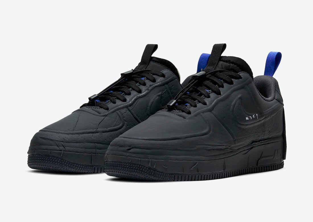 Nike Air Force 1 Experimental Black Anthracite Chile Red Hyper Royal CV1754-001 Release Date Info
