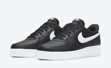 Nike Air Force 1 Low Black White CT2302-002 Release Date Info