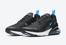 Nike Air Max 270 Black University Blue DD7120-001 Release Date Info