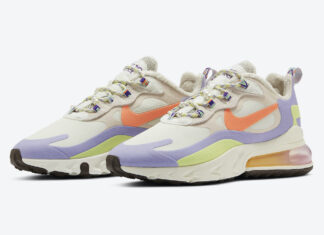 Nike Air Max 270 React Beige Orange Purple DC3276-101 Release Date Info