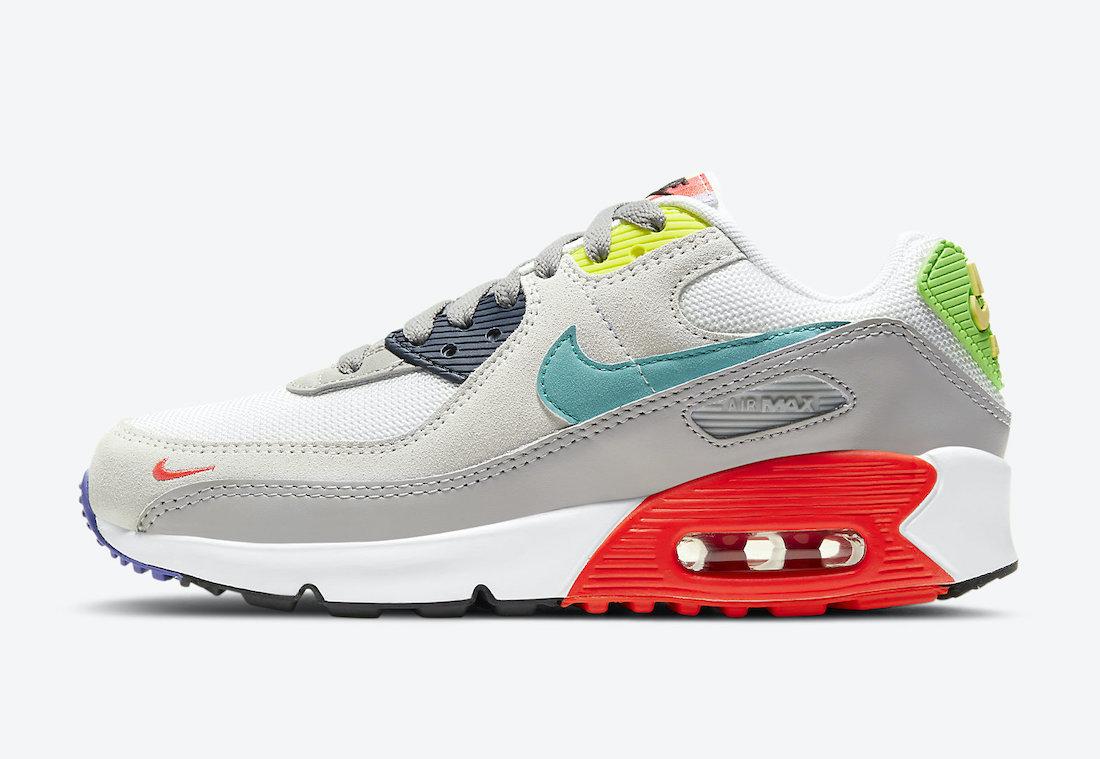 Nike Air Max 90 GS Grey Multi DA5653-001 Release Date Info