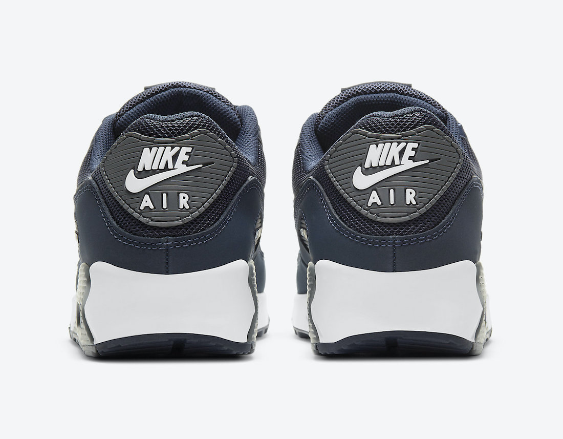 Nike Air Max 90 Navy Grey DH4095-400 Release Date Info