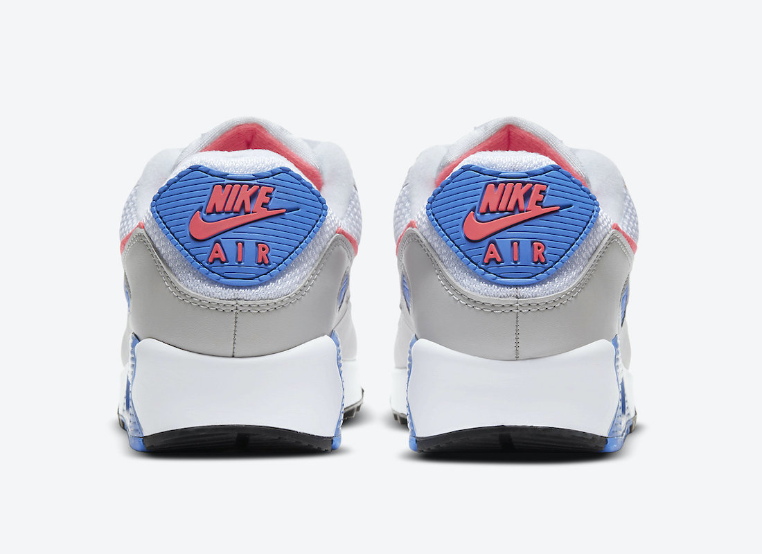 Nike Air Max 90 White Pink Blue DA8856-100 Release Date Info
