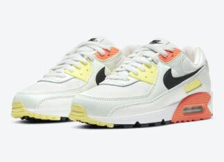 Nike Air Max 90 White Yellow Orange Black CV8819-101 Release Date Info