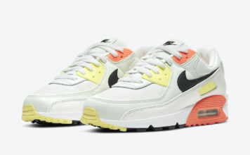 Nike Air Max 90 White Yellow Orange Black CV8819-101 Release Date Info