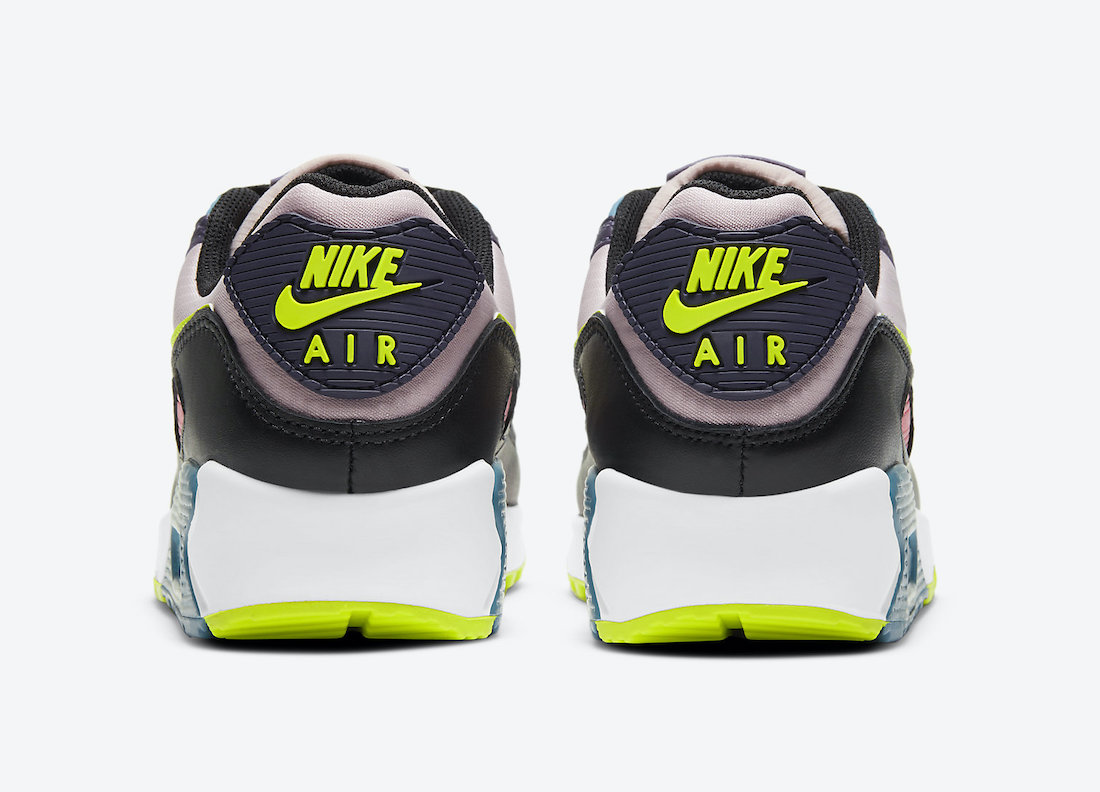 Nike Air Max 90 Yellow Pink Teal Purple CV8819-500 Release Date Info