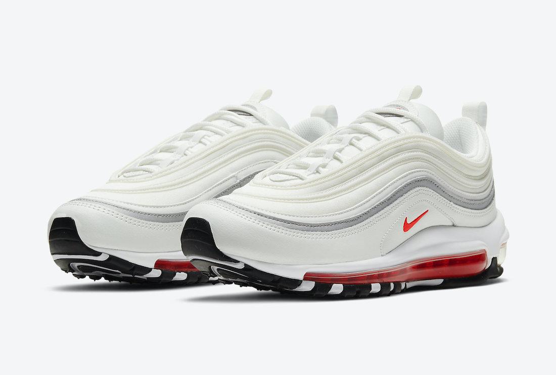Nike Air Max 97 White Aqua Blue Red DA9325-101 Release Date Info