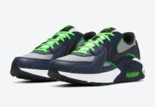 Nike Air Max Excee Navy Black Neon Green CD4165-400 Release Date Info