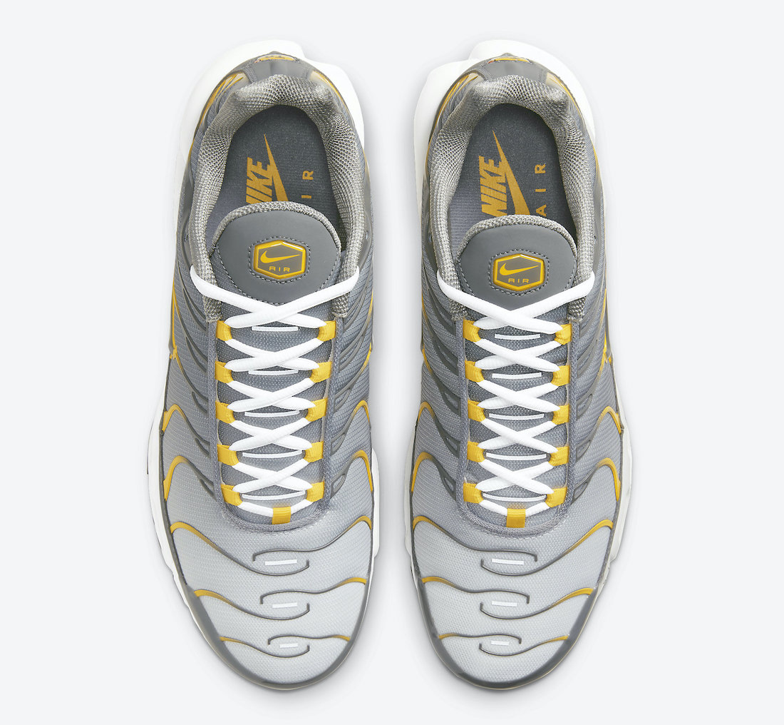 Nike Air Max Plus Grey Yellow DD7111-001 Release Date Info