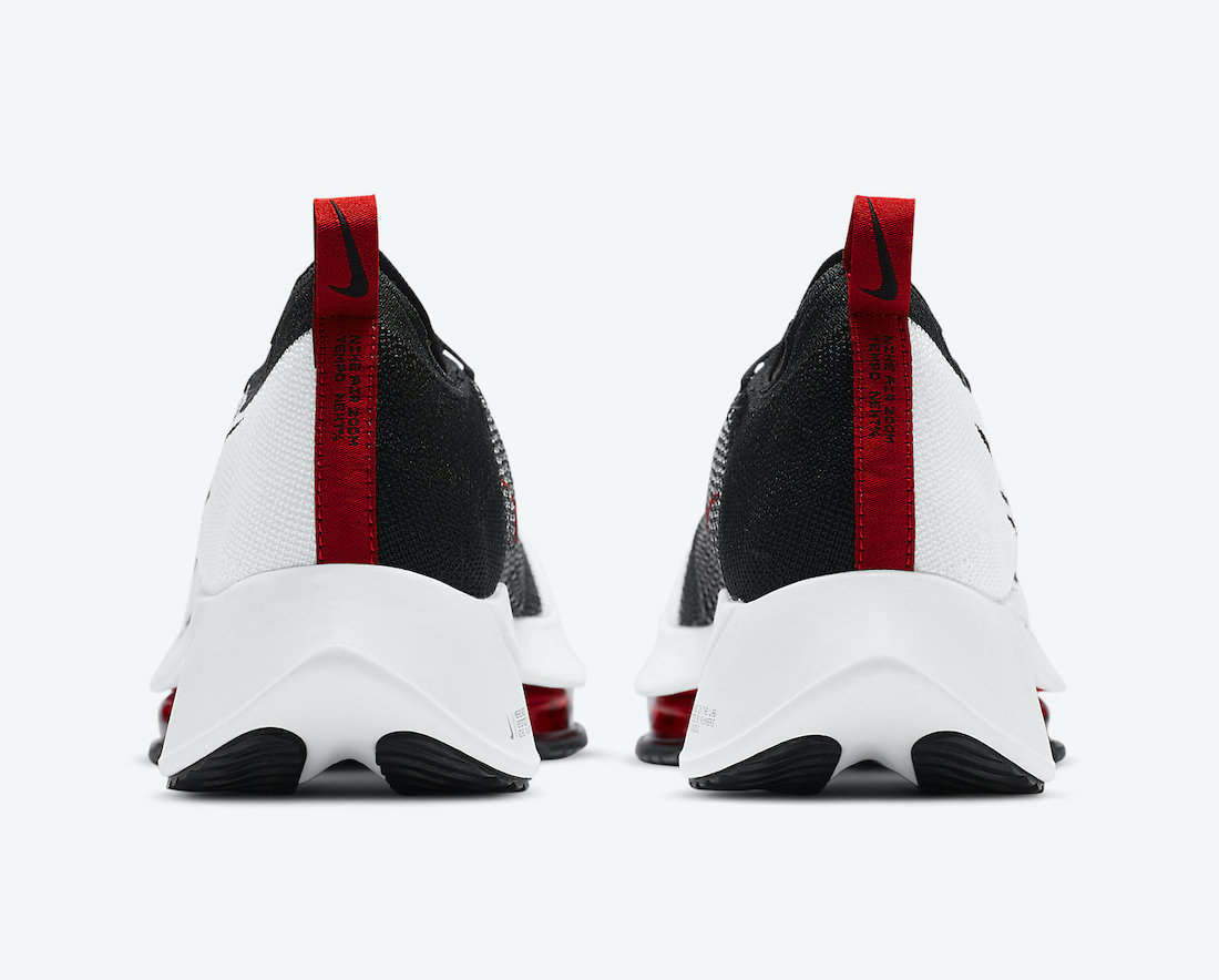 Nike Air Zoom Tempo NEXT% White University Red Black CI9923-102 Release Date Info