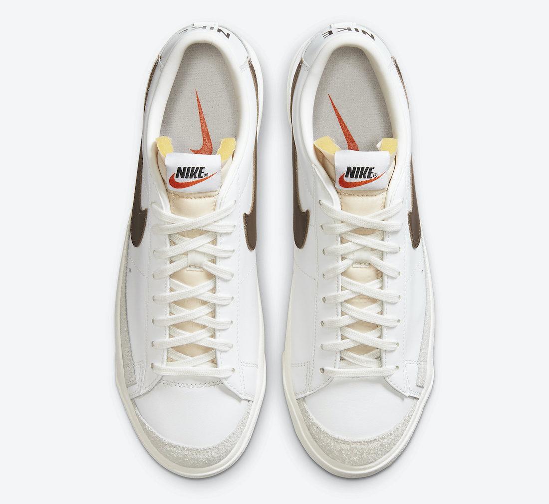 Nike Blazer Low 77 Vintage White Chocolate DA6364-100 Release Date Info