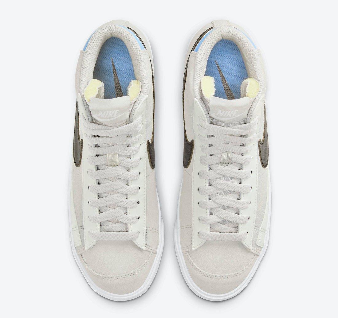 Nike Blazer Mid Grey Brown Light Blue DH3862-001 Release Date Info