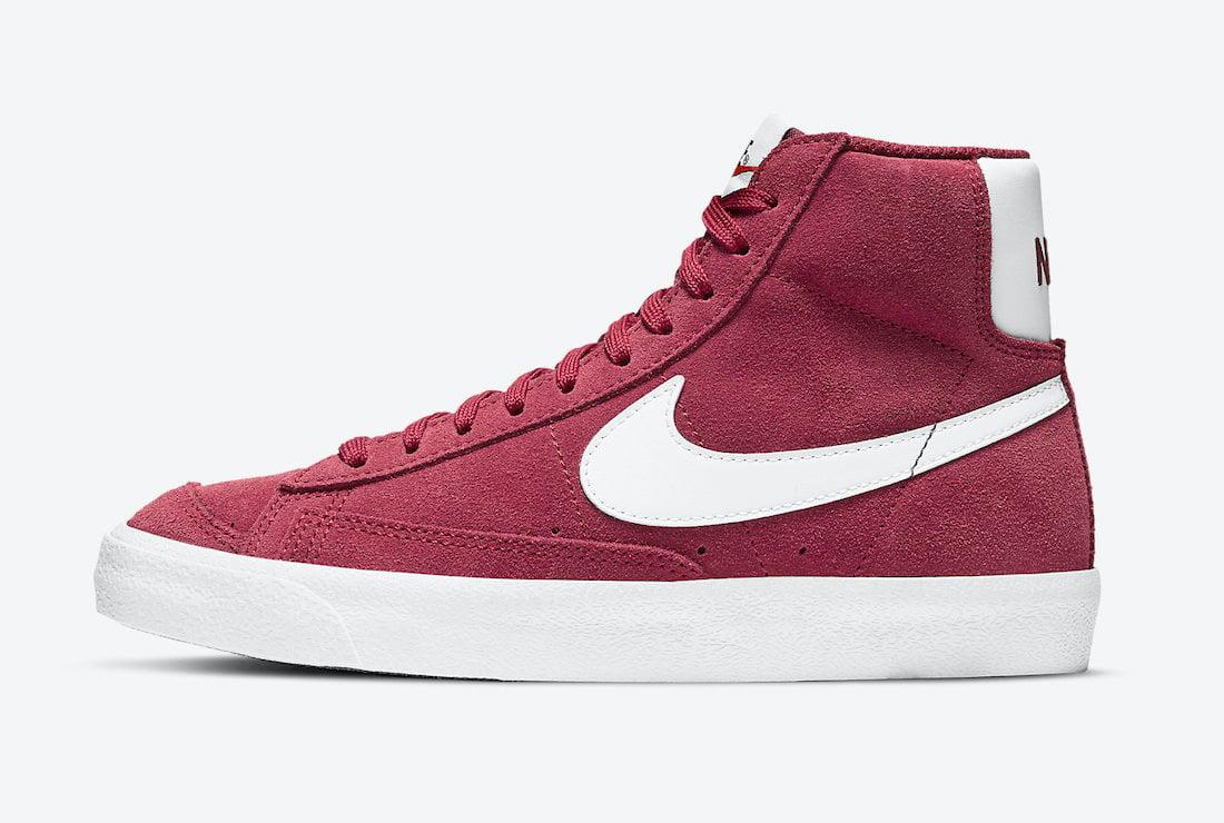 Nike Blazer Mid Magenta Suede DC8248-600 Release Date Info