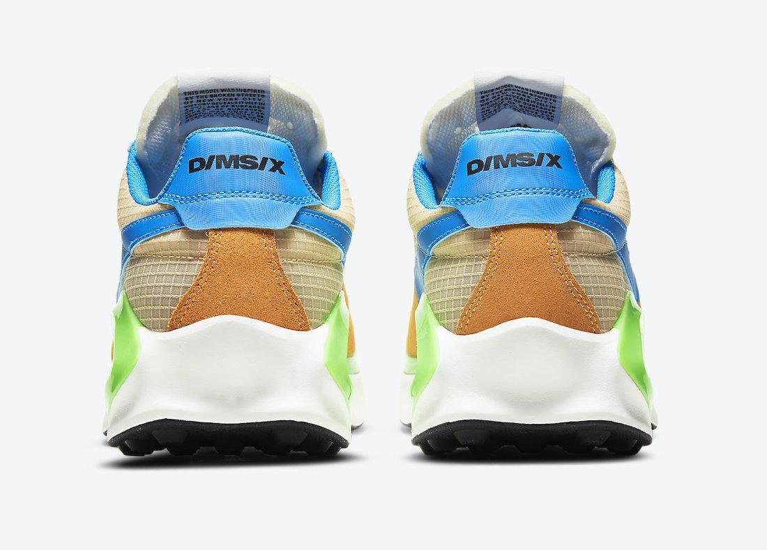 Nike D/MS/X Waffle Yellow Blue Green CQ0205-700 Release Date Info