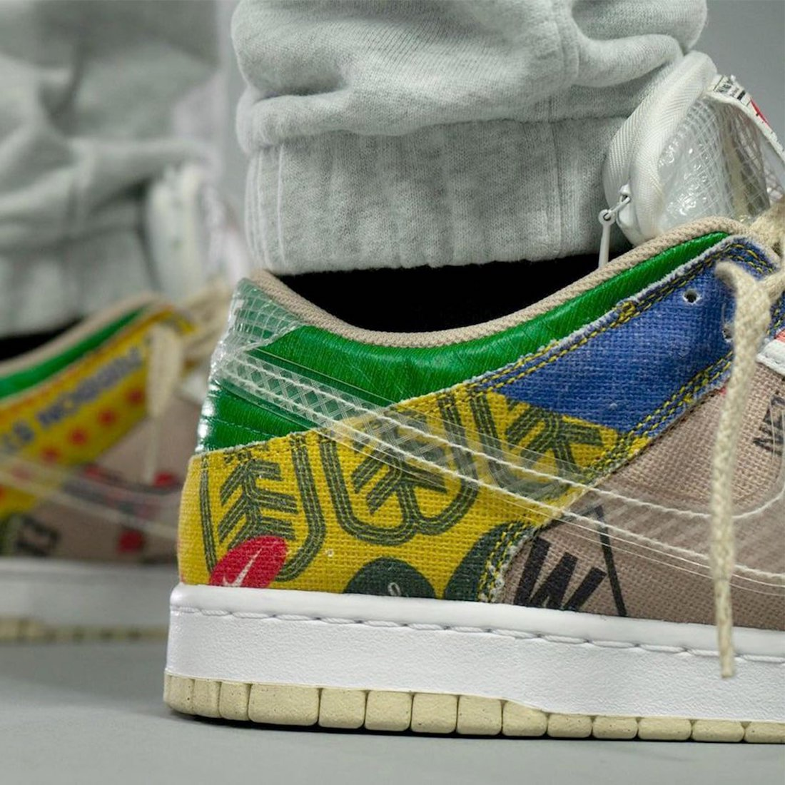 Nike Dunk Low Thank You For Caring DA6125-900 On Feet