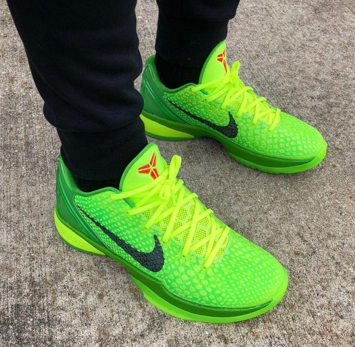 Nike Kobe 6 Protro Grinch CW2190-300 On Feet