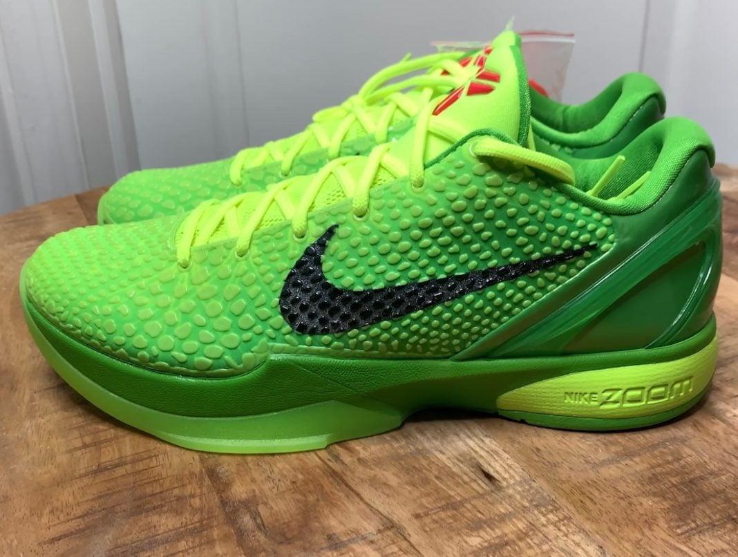 Nike Kobe 6 VI Protro Grinch CW2190-300 Release Info