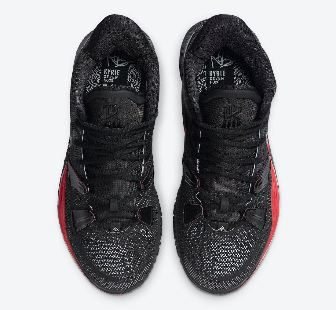 Nike Kyrie 7 Bred Black University Red CQ9327-001 Release Date Info