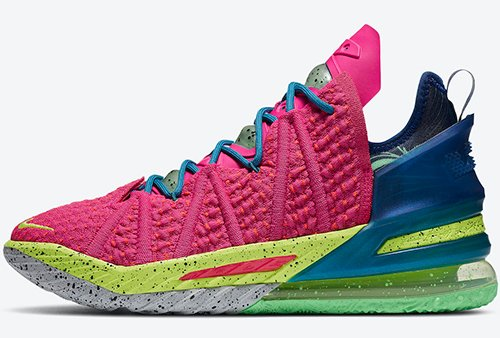 Nike LeBron 18 Los Angeles By Night Pink Prime Release Date