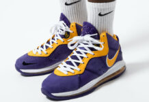 Nike LeBron 8 Lakers DC8380-500 On-Foot