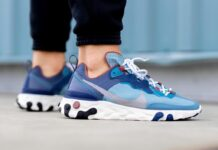 Nike React Element 55 Coastal Blue CU1466-400 Release Date Info