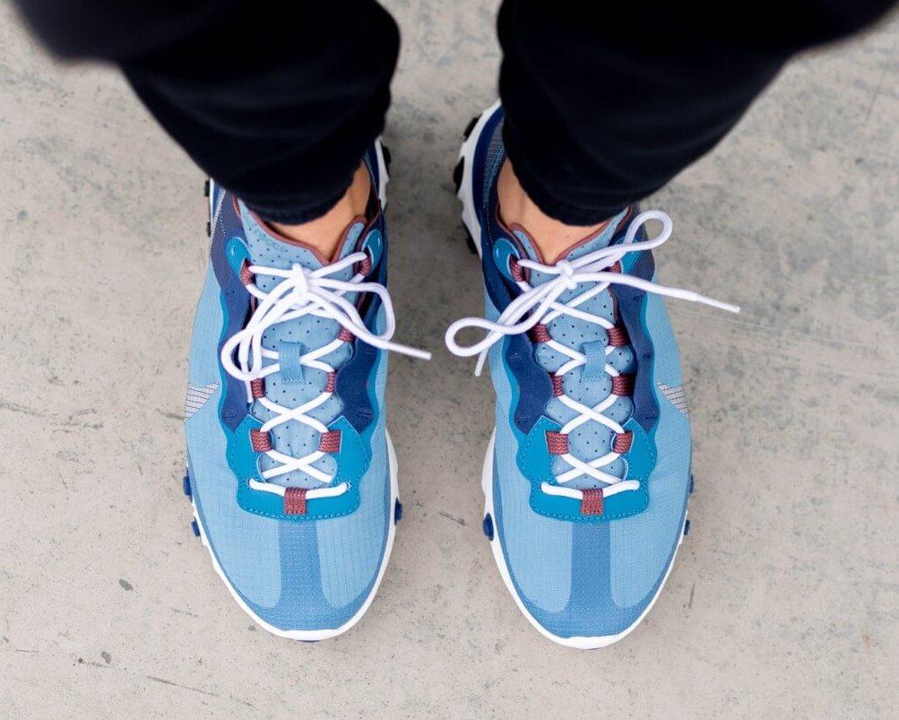 Nike React Element 55 Coastal Blue CU1466-400 Release Date Info