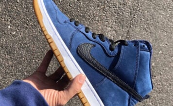 Nike SB Dunk High Obsidian Black Light Gum Brown