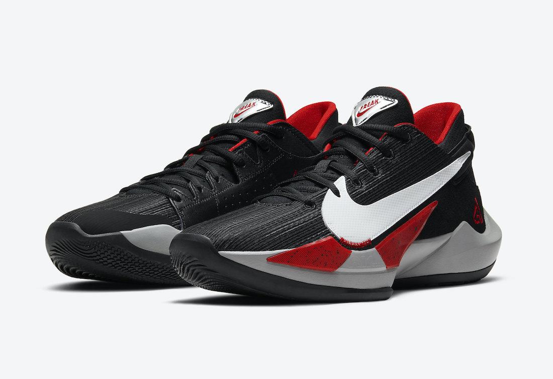 Nike Zoom Freak 2 Bred Black White University Red CK5424-003 Release Date Info