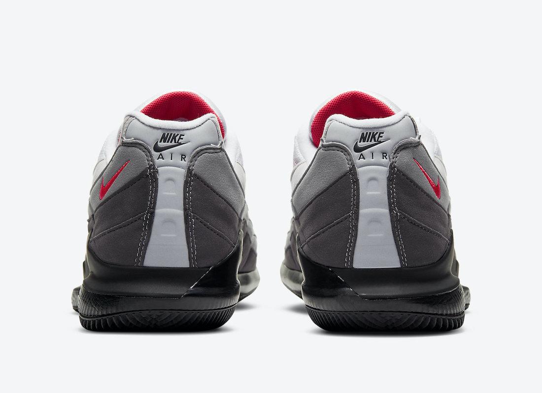 NikeCourt Vapor RF Air Max 95 Solar Red DB6064-100 Release Date Info