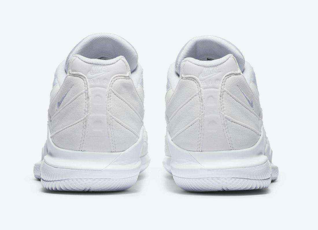 NikeCourt Vapor RF Air Max 95 Triple White DB6064-101 Release Date Info