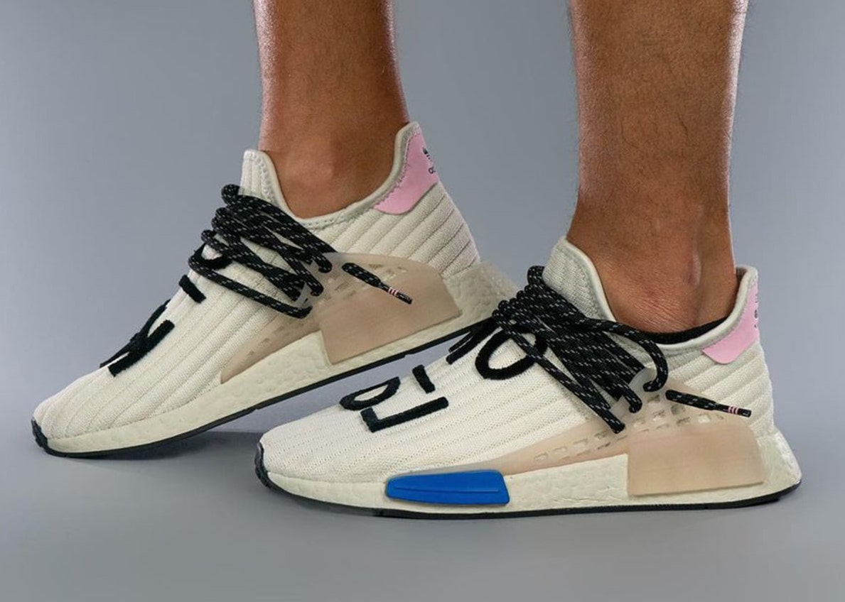 Pharrell adidas NMD Hu Cream Blue Pink Release Date Info