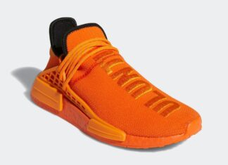Pharrell adidas NMD Hu Orange GY0095 Release Price